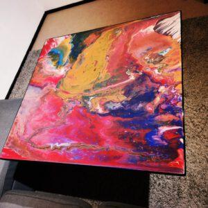 Acrylgemälde Epoxidharz Abstrakt
