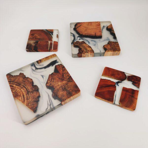 Untersetzer Epoxidharz Holz